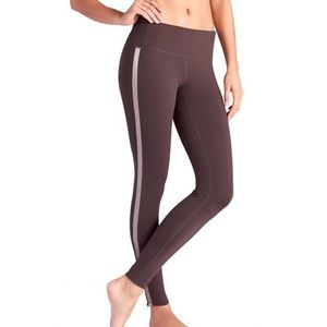 ATHLETA TUXEDO CHATURANGA ZIP LEG LARGE TIGHTS